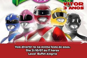 Convite digital personalizado Power Rangers 008