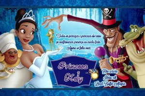 Convite digital personalizado A Princesa e o Sapo 001