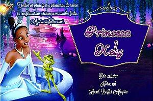 Convite digital personalizado A Princesa e o Sapo 002