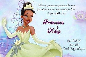 Convite digital personalizado A Princesa e o Sapo 003
