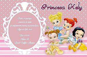 Convite digital personalizado Princesas Disney Baby 001