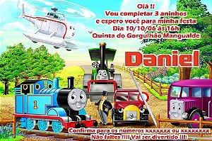 Convite digital personalizado Thomas e Seus Amigos 003