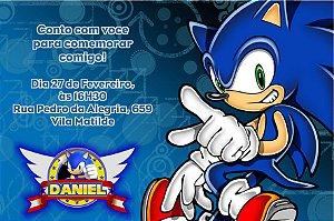 Convite digital personalizado Sonic 002