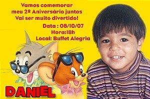 Convite digital personalizado Tom e Jerry 004