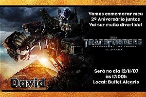Convite digital personalizado Transformers 002