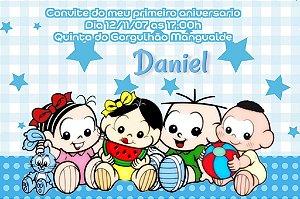 Convite digital personalizado Turma da Mônica Baby 001