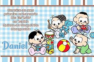 Convite digital personalizado Turma da Mônica Baby 002