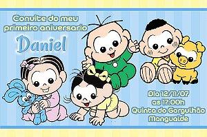 Convite digital personalizado Turma da Mônica Baby 003