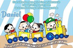 Convite digital personalizado Turma da Mônica Baby 004