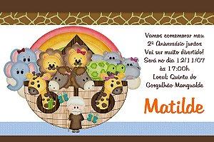 Convite digital personalizado Arca de Noé 003