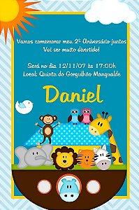 Convite digital personalizado Arca de Noé 006