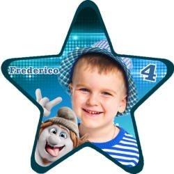 Imã Personalizado estrela com 5 cm x 5cm
