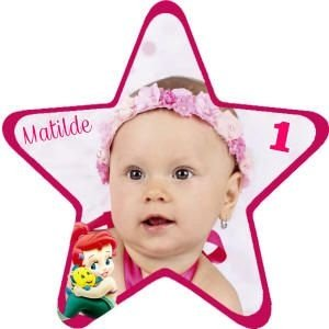 Imã Personalizado estrela com 7 cm x 7 cm