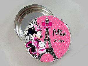 Latinha de alumínio personalizada Minnie em Paris
