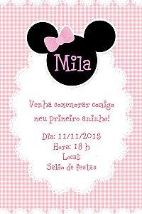 Convite digital personalizado Minnie 001