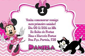 Convite digital personalizado Minnie 012