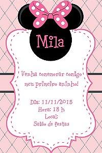 Convite digital personalizado Minnie 013