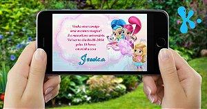 Convite digital personalizado Shimmer e Shine 001