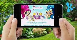 Convite digital personalizado Shimmer e Shine 002