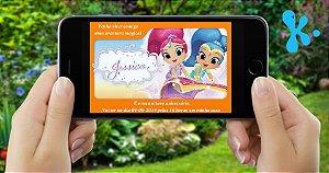 Convite digital personalizado Shimmer e Shine 003