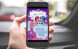 Convite digital personalizado Shimmer e Shine 004