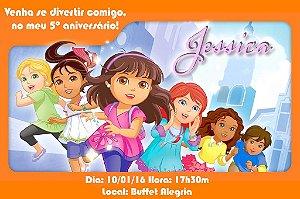 Convite digital personalizado Dora e Seus Amigos: Na Cidade 002
