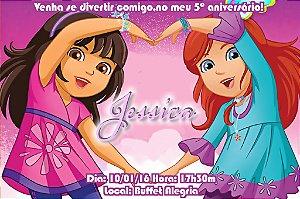 Convite digital personalizado Dora e Seus Amigos: Na Cidade 003