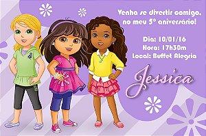 Convite digital personalizado Dora e Seus Amigos: Na Cidade 004
