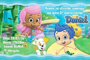 Convite digital personalizado Bubble Guppies 003