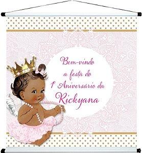 Banner personalizado 1 m x 1 m Anjinha Princesa 001