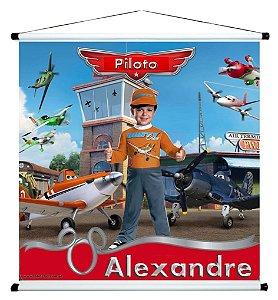 Banner personalizado 1 m x 1 m Aviões da Disney 001