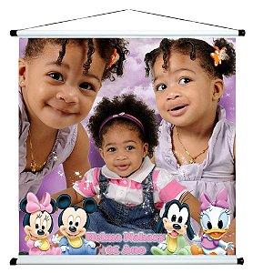 Banner personalizado 1 m x 1 m Baby Disney 001