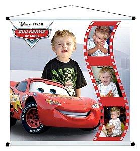 Banner personalizado 1 m x 1 m Carros da Disney 002