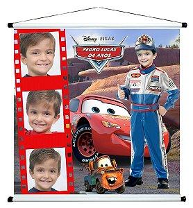 Banner personalizado 1 m x 1 m Carros da Disney 001