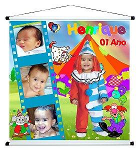 Banner personalizado 1 m x 1 m Circo 005
