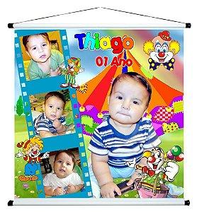 Banner personalizado 1 m x 1 m Circo 006