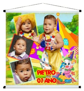 Banner personalizado 1 m x 1 m Circo 007