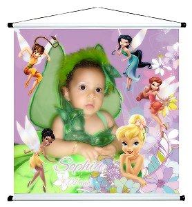 Banner personalizado 1 m x 1 m Fadas Disney 001