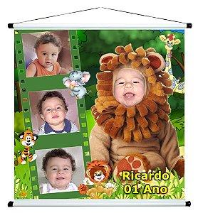 Banner personalizado 1 m x 1 m Floresta Encantada 001