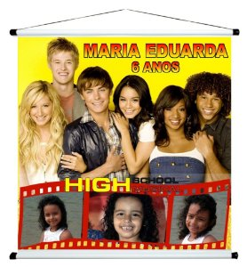 Banner personalizado 1 m x 1 m High School Musical 001