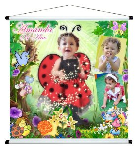 Banner personalizado 1 m x 1 m High Jardim Encantado 004