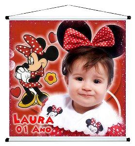 Banner personalizado 1 m x 1 m Minnie 001