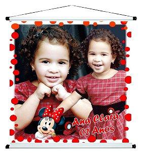Banner personalizado 1 m x 1 m Minnie 002