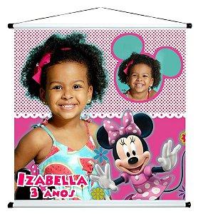 Banner personalizado 1 m x 1 m Minnie 004