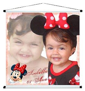 Banner personalizado 1 m x 1 m Minnie 005