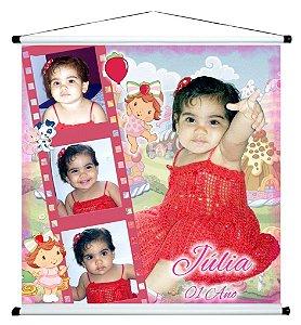 Banner personalizado 1 m x 1 m Baby Moranguinho 001