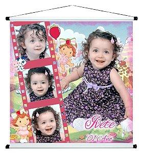 Banner personalizado 1 m x 1 m Baby Moranguinho 002