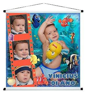 Banner personalizado 1 m x 1 m Procurando Nemo 001