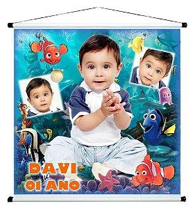 Banner personalizado 1 m x 1 m Procurando Nemo 002