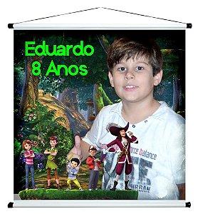 Banner personalizado 1 m x 1 m Peter Pan 001